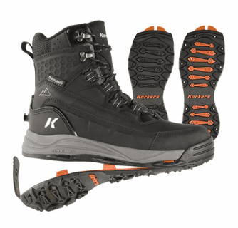 Korkers Men's Snowmageddon with SnowTrac & IceTrac Soles Boots