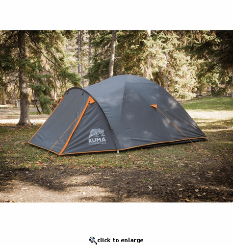 KUMA Outdoor Gear Tekarra 4 Tent - Graphite/Orange