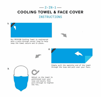 Mission EnduraCool Small Cooling Towel & Face Protection Cover