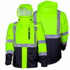 Mobile Warming 7.4V Men's Hi-Vis Heated Rain Jacket