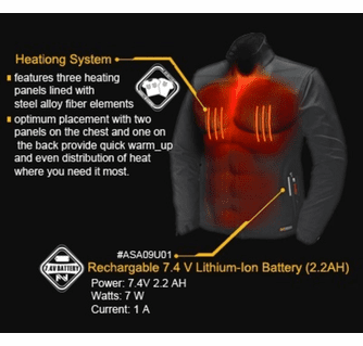 Mobile Warming Men's Taylor Lightweight Heated Softshell Vest
