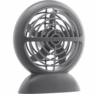 O2 Cool Treva 3.5 Inch Rechargeable Puck Fan with Micro USB Cord