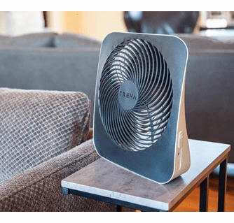 """O2Cool Treva 10"""" Battery Operated Portable Fin Fan with AC Adapter"""
