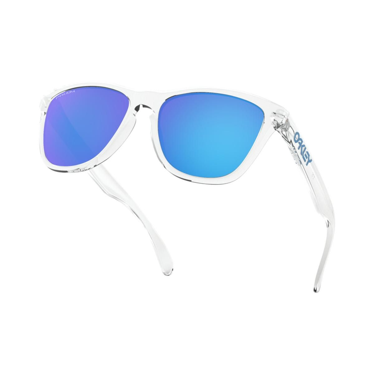 4c8576c134 Oakley Frogskins Crystal Clear Sunglasses w Prizm Sapphire - My ...