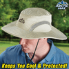 Ontel Arctic Hat Evaporative Cooling Hat with UV Protection