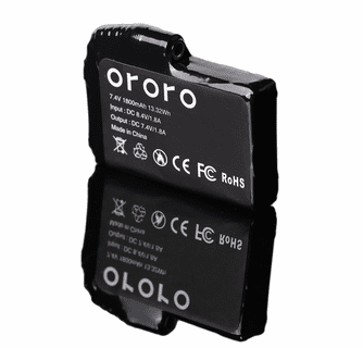 Ororo 7.4V 1800mAh Rechargeable Battery for Heated Gloves