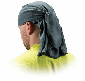 Pyramex Safety Skull Cap with Ties - Gray