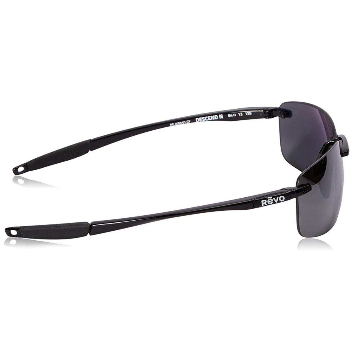 9805fb4797 Revo Unisex Descend N Rectangle Sunglasses Graphite Lens with Black Frame