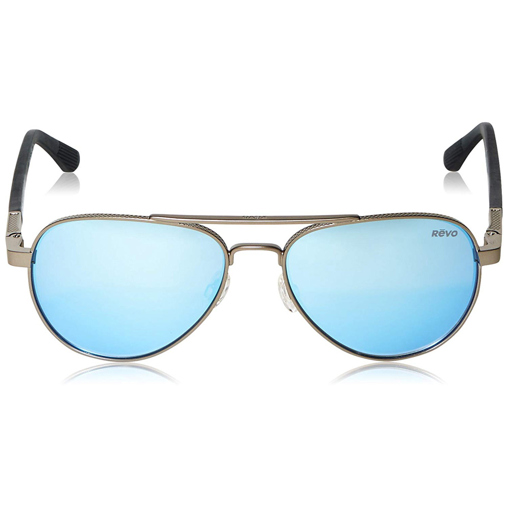 3e91e589ec9 Revo Unisex Raconteur Aviator Sunglasses Blue Water Lens with Gunmetal  Frame. Item   . RE-1011-00-BL
