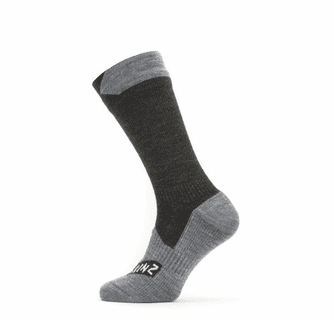 SealSkinz Men's Waterproof All Weather Mid Length Socks