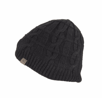 SealSkinz Men's Waterproof Cold Weather Cable Knit Beanie Hat