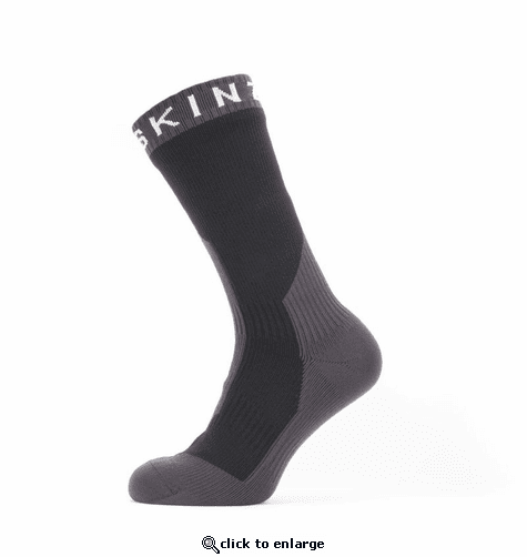 SealSkinz Men's Waterproof Extreme Cold Weather Mid Length Socks