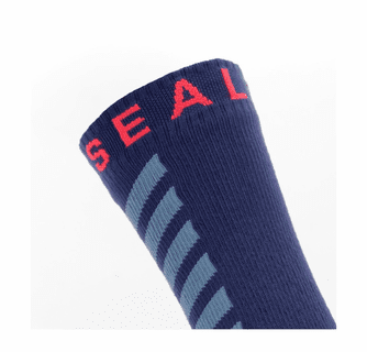SealSkinz Men's Waterproof Warm Weather Mid Length Socks with Hydrostop