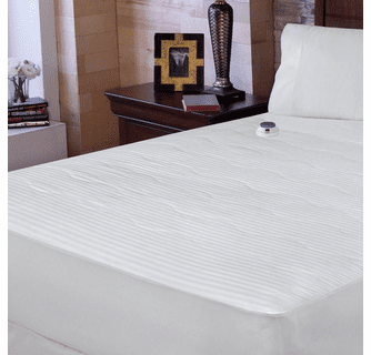 Serta 233TC Dobby Stripe Heated Mattress Pad - Full