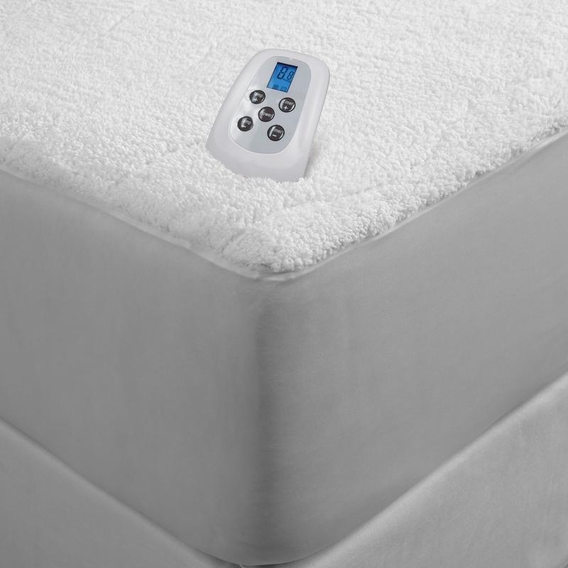 Serta Sherpa Plush 110V Electric Heated Mattress Pad with ...