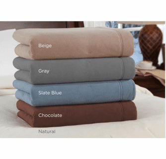 Soft Heat Luxury Micro-Fleece Electric Heated Warming Blanket - Queen