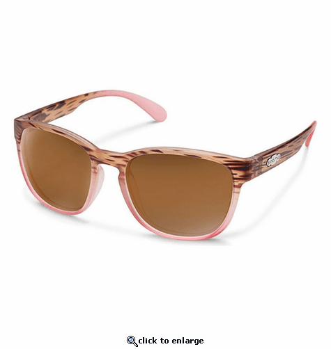 Suncloud Injection Loveseat MT Tortoise Pink Fade Polarized Brown Sunglasses