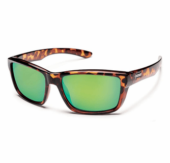 Suncloud Injection Mayor Tortoise Polarized Green Mirror Sunglasses