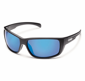 Suncloud Injection Milestone Matte Black Polarized Blue Mirror Sunglasses