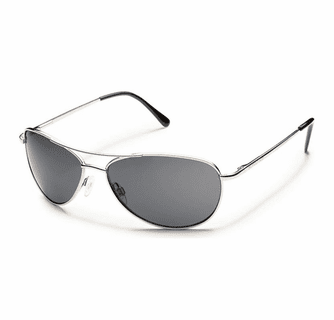 Suncloud Metals Patrol Silver Polarized Gray Sunglasses