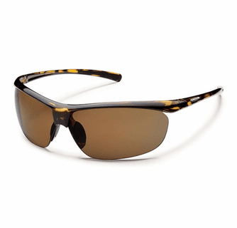 Suncloud Rimless Zephyr Tortoise Polarized Brown Sunglasses