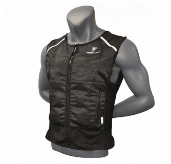 TechNiche TechKewl 6626-LT Phase Change Front Zipper Cooling Lite Vest Powered by CoolPax
