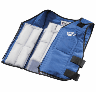 Techniche TechKewl Phase Change Cooling Vest with Inserts and Cooler - Black