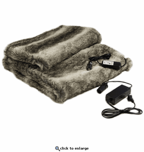 Trillium Faux Fur Cozy The Only Heated Throw for Auto and Home