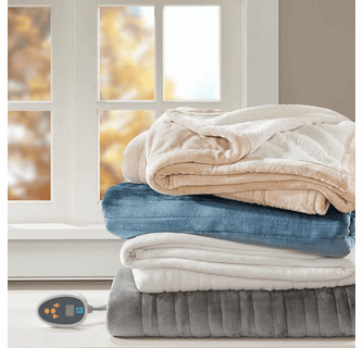 True North by Sleep Philosophy Ultra Soft Plush Reverses to Berber Heated Blanket with Bonus Automatic Timer - Full