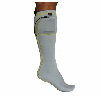 Volt 3V Rechargeable Battery Heated Sock Liner - Gray