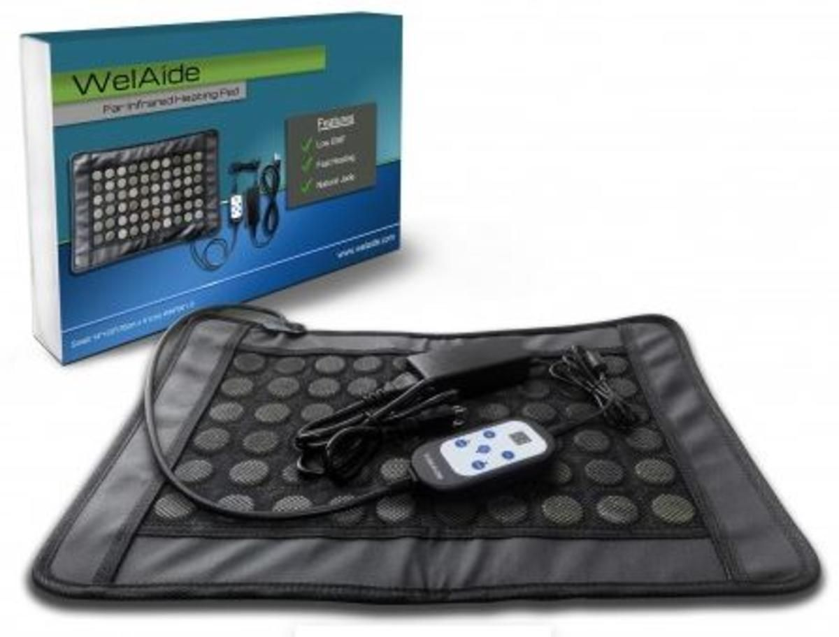 WelAide Far Infrared Jade Stone Heating Pad Low EMF - Small