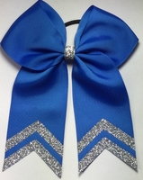 5.5 wide Columbia Blue with Silver Glitter tips