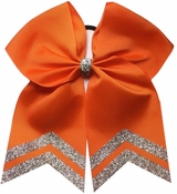 6.5 Inch Orange with Silver Glitter Tips