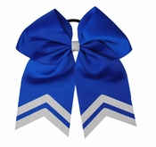 6.5 Inch Royal Blue with White Glitter Tips