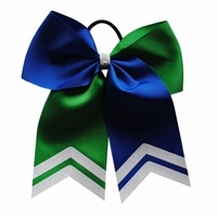 6.5 Royal Blue and Green with White Glitter Tips