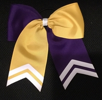 6.5 Wide Regal Purple and Yellow Gold with White Tips