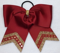 7 Inch Maroon with Old Gold Glitter and bling