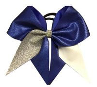Blue Glitter with Silver and White Glitter Half Tails