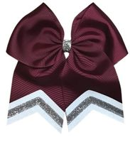 New Uniform Maroon with White and Silver Glitter Tips