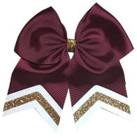 New Uniform Maroon with White and Old Gold Glitter Tips