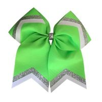 Fluorescent Green Glitter Loop and Tail