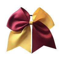 Light Maroon and Gold Hair Bow