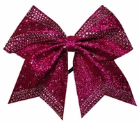 Light Weight Hot Pink Glitter with Rhinestone