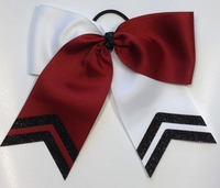 Maroon and White with Glitter Black Tips