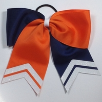 7 Inch Navy and Orange with White Glitter Tips
