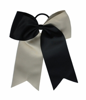 New 6.5 Black and Vegas Gold Bow Long Tails