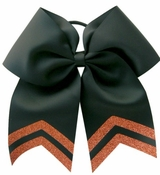6.5 inch Black with Copper Glitter tips
