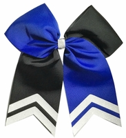6.5 Inch Blue and Black with Glitter White Tips