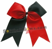 New 6.5 Red and Black Sport Hair Bow
