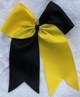 New 6.5 Tick Tock Black and Yellow Sport Hair Bow